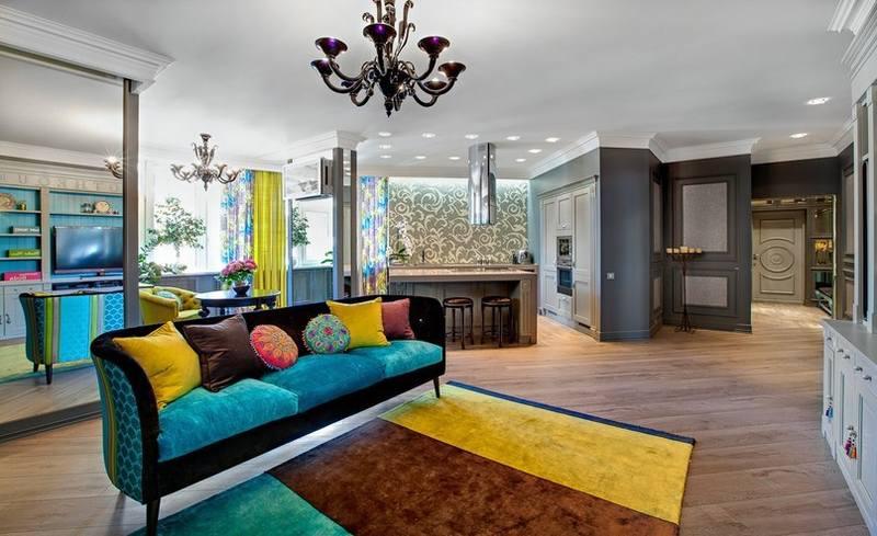 Интерьер квартиры студии в стиле «Фьюжн»