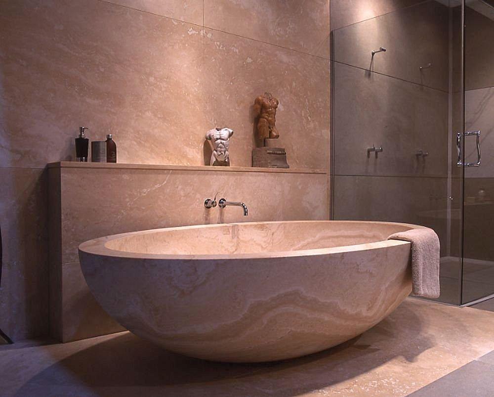 Ванна в ванную комнату из искусственного камня