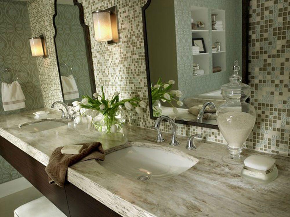 Использование искусственного камня в ванной