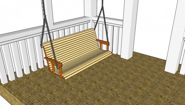 Скамейка для качелей в беседке или крыльце