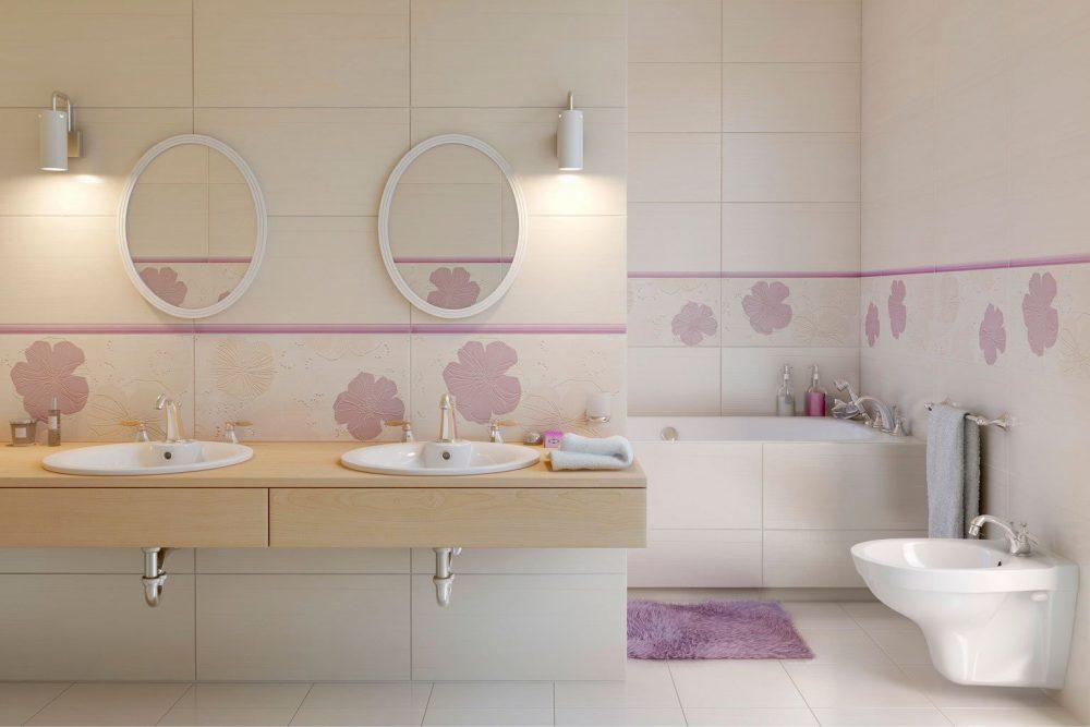 Керамическая матовая плитка для ванной