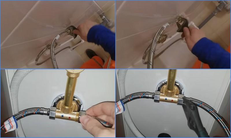 подключение душевой кабины к водопроводу