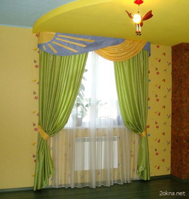 Фото - какие шторы подобрать к желтым обоям