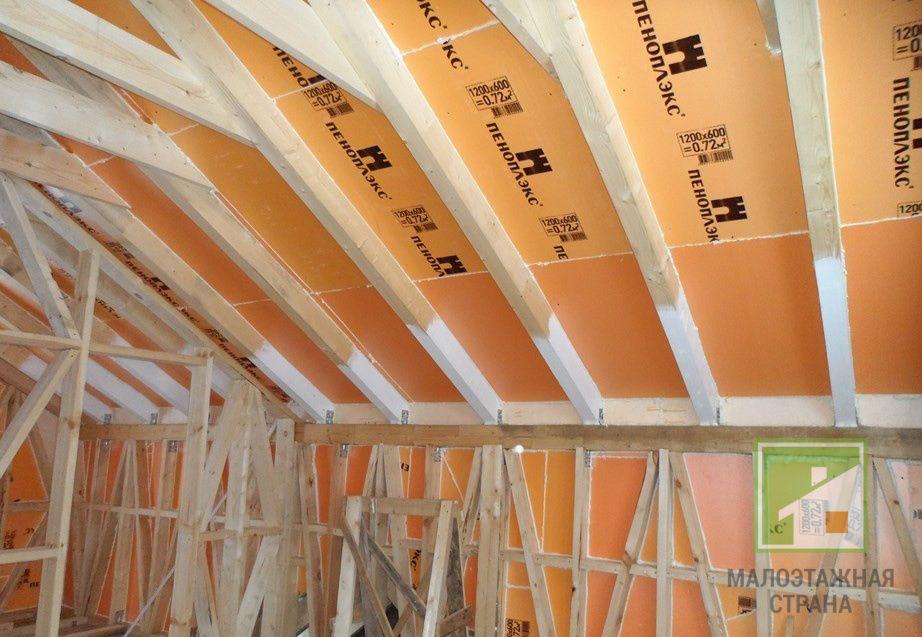 Как правильно провести утепление крыши Пеноплексом, на что обратить внимание