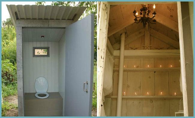 как провести свет в туалет на даче