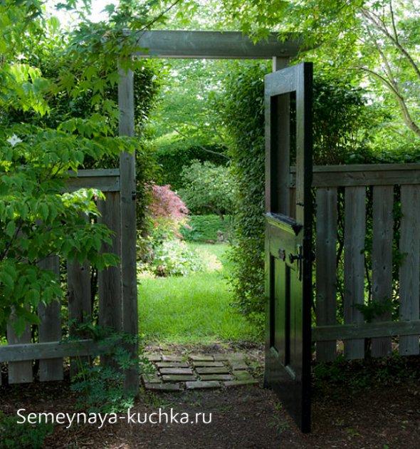 калитка деревянная для сада