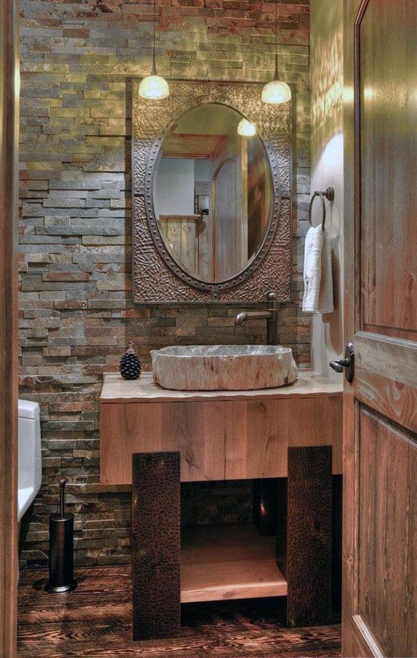 Применение искусственного камня в туалете