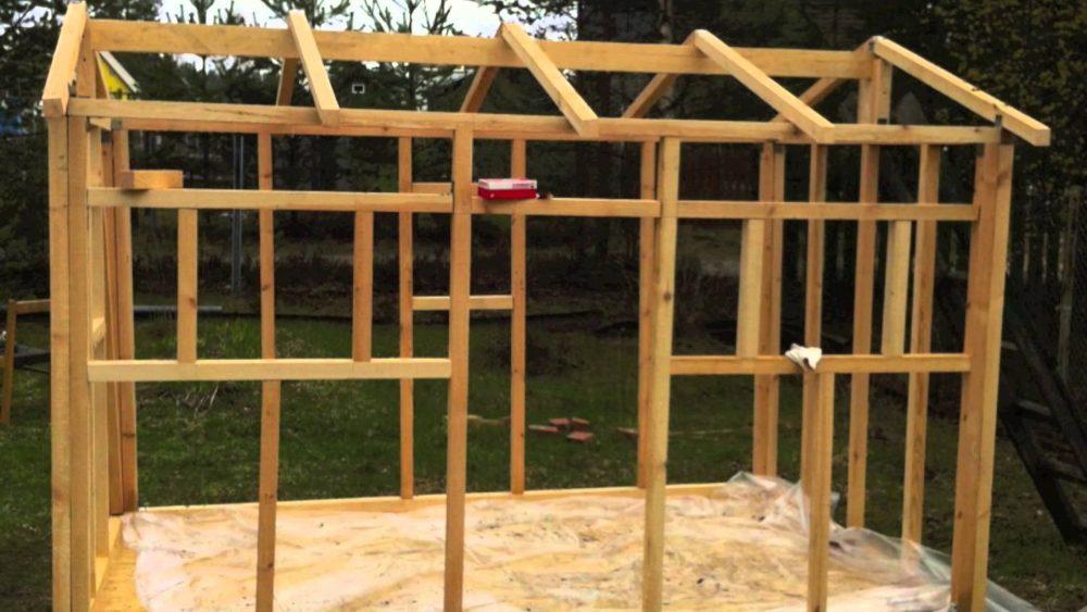 схема каркаса детского игрового домика во дворе