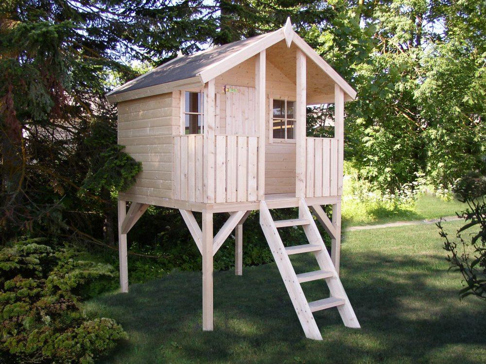 схема каркаса дачного детского домика во дворе