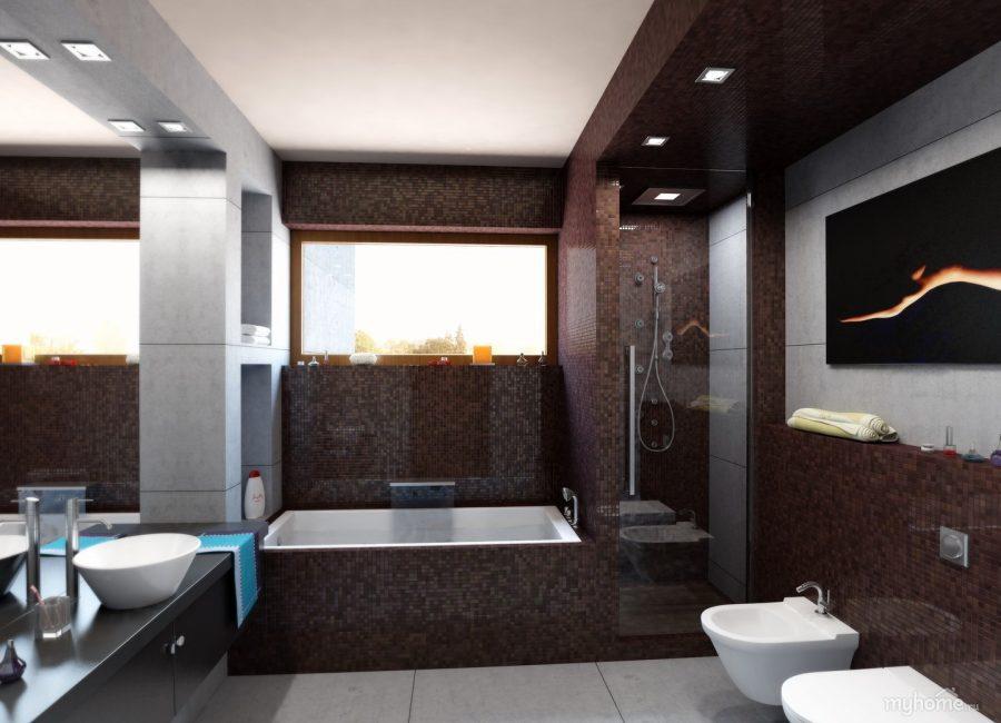 В интерьере ванной комнаты