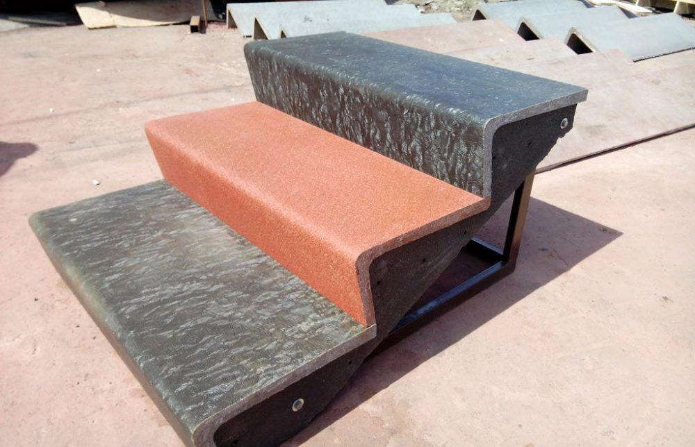 Красивые ступени из бетона