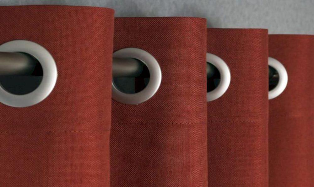 Крепление шторы на трубчатый карниз на люверсы