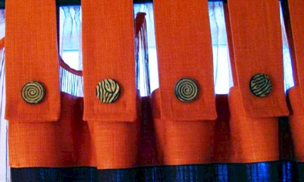 Крепление шторы на трубчатый карниз на петли застежки