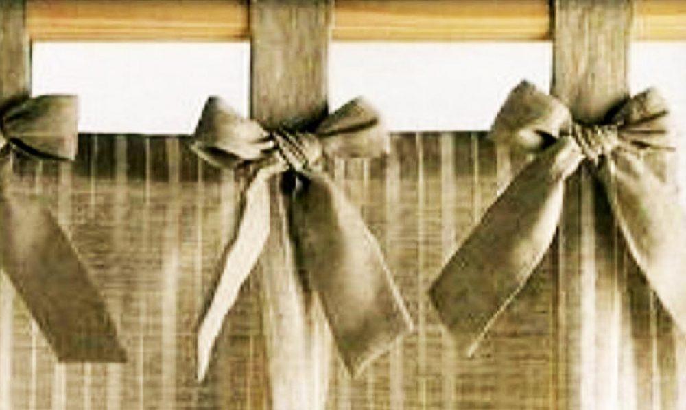 Крепление шторы на трубчатый карниз на петли