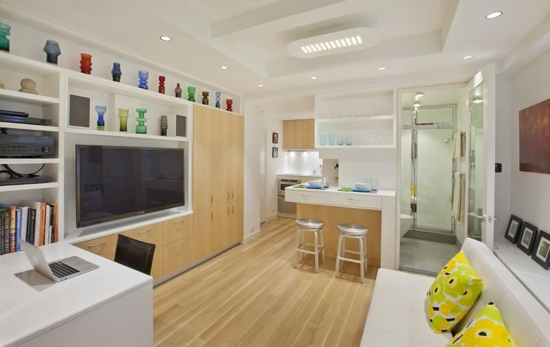 Квартира - студия прямоугольной конфигурации