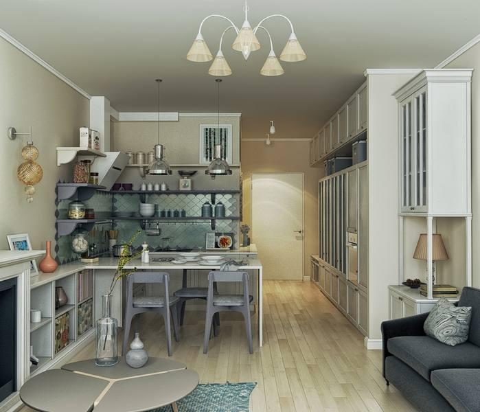 Квартира-студия в стиле «Прованс»