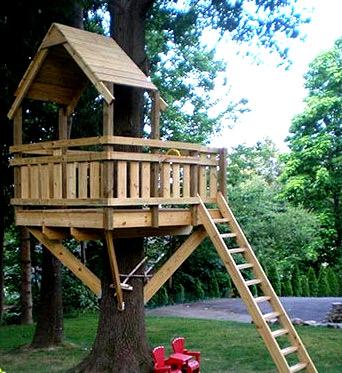 дом на дереве лестница