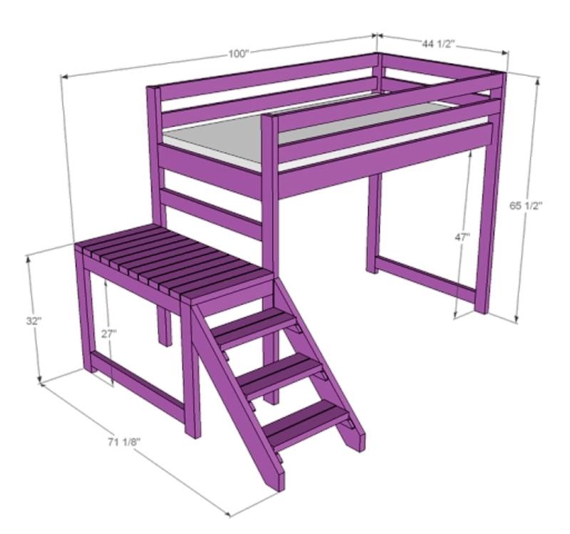 Лестница с подиумом