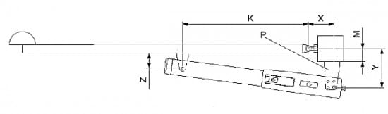 Схема линейного привода для установки на распашные ворота