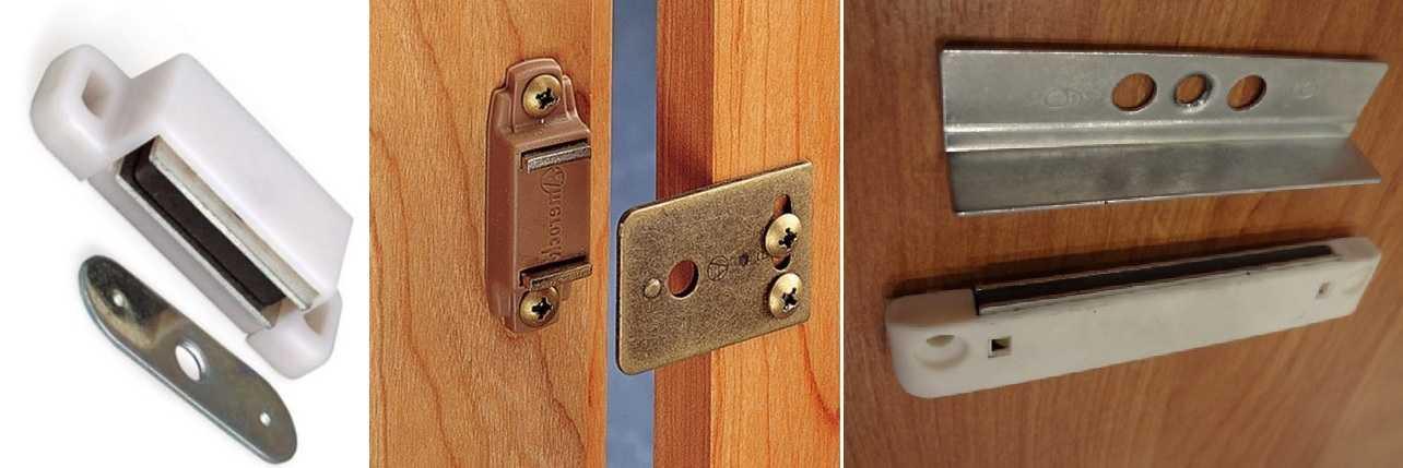 Пассивные магнитные защелки для мебели и межкомнатных дверей