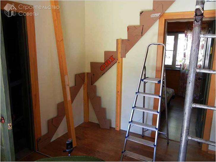 Макет лестницы из картона