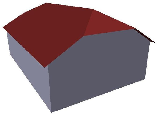 Эскиз полувальмовой крыши