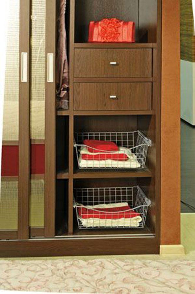 Сетчатые корзины для хранения в гардеробной