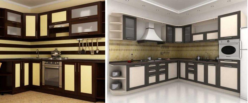 Кухонная сборная мебель с рамочными фасадами