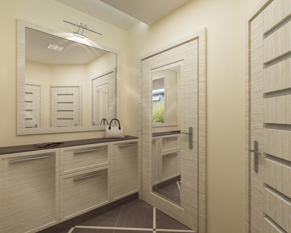 небольшое зеркало в коридоре