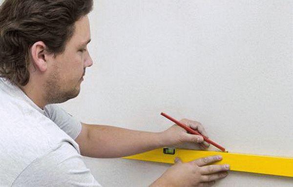 Разметка поверхности под облицовку плиткой