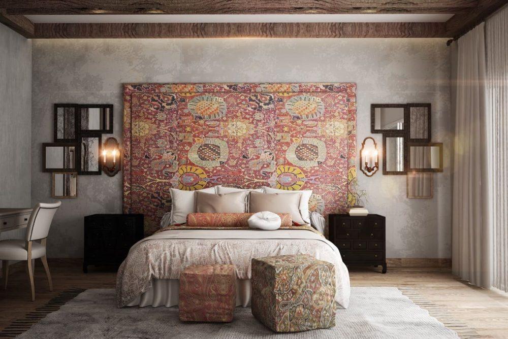 Благодаря небольшой рельефности текстильные обои выглядят по-особенному нарядно и благородно