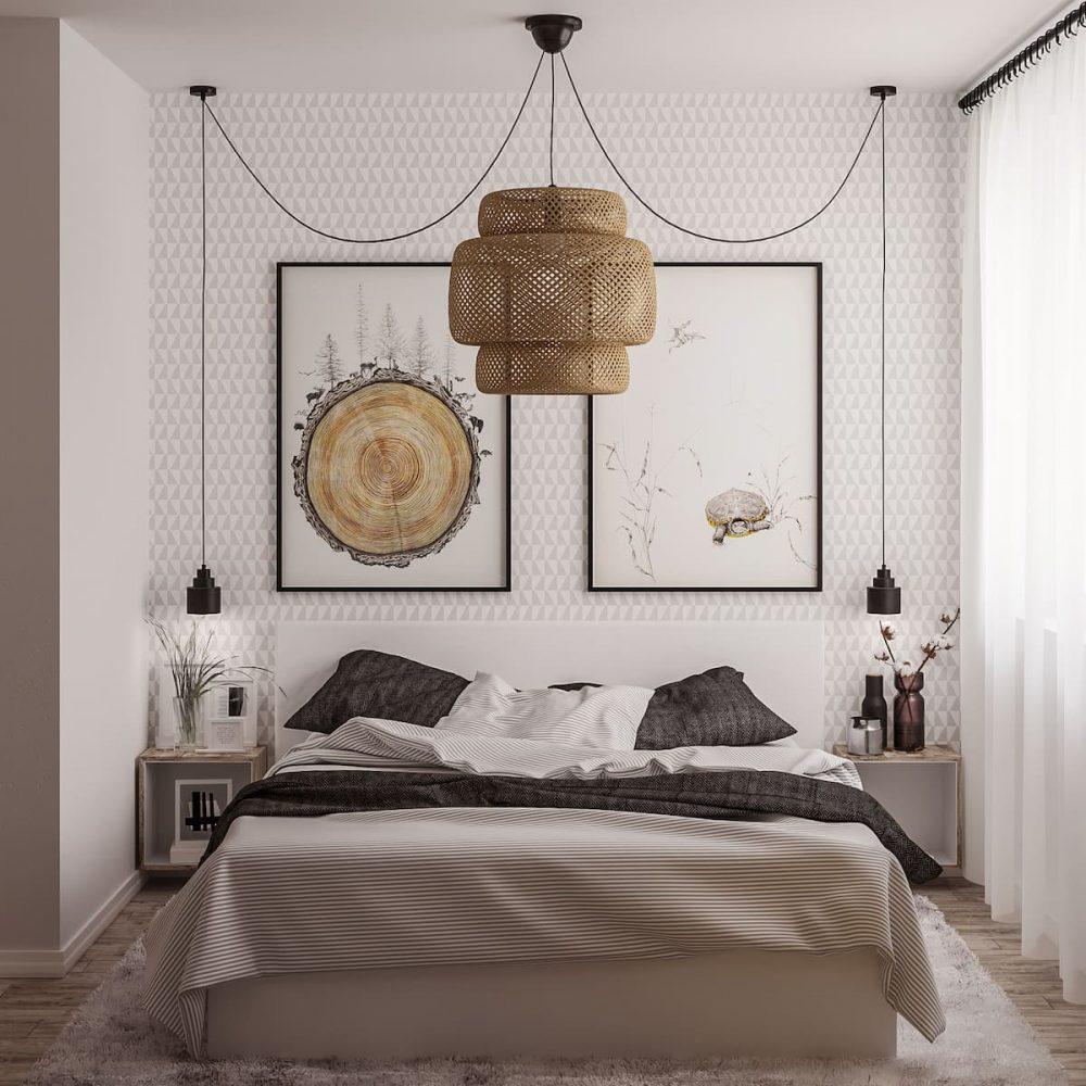 Белоснежный интерьер спальни в современном стиле