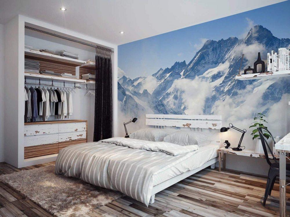 Живописный интерьер спальни в эко-стиле
