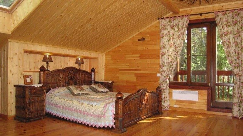 отделка деревянного дома внутри