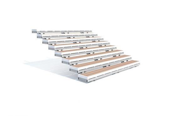 Открытый вариант лестницы из ДПК