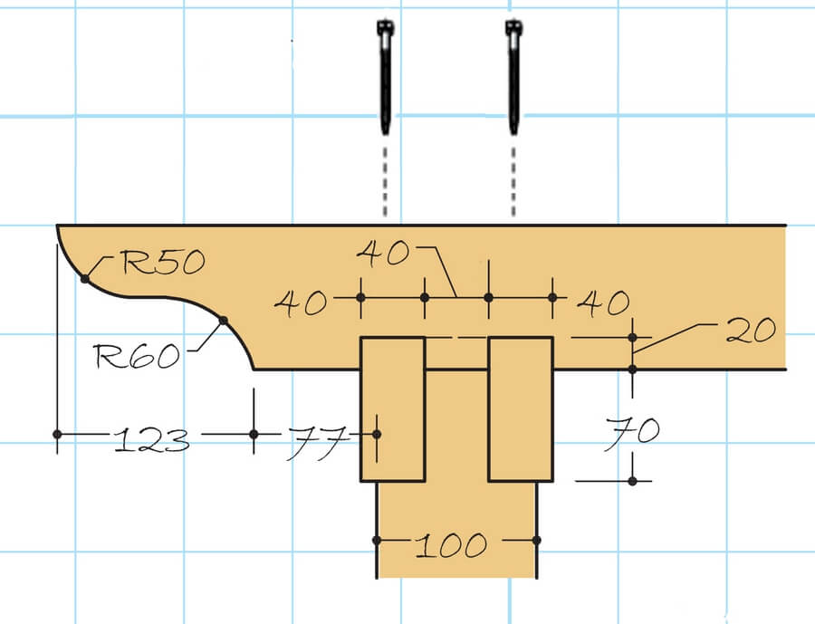 Установка обрешетки: схема монтажного узла деревянной перголы.