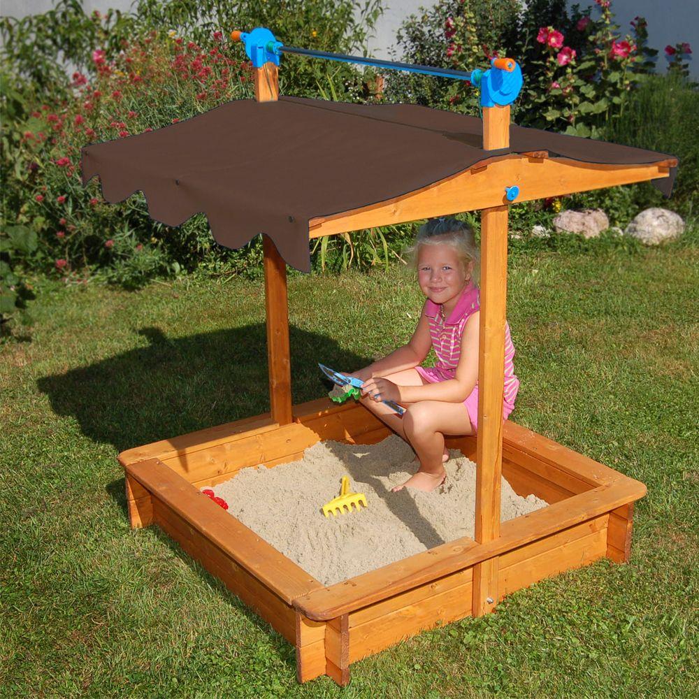 песочница для детей на даче готовая конструкция
