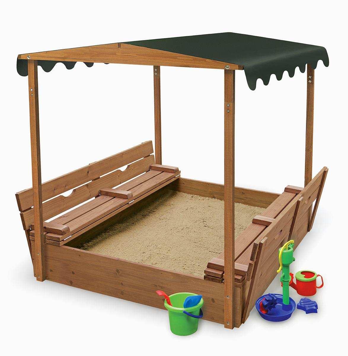 игровая песочница для подростков во дворе готовая конструкция