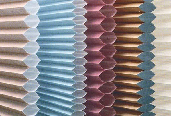 Структура гофрированных штор плиссе