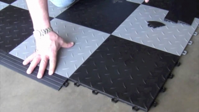 плиточный пол в гараже