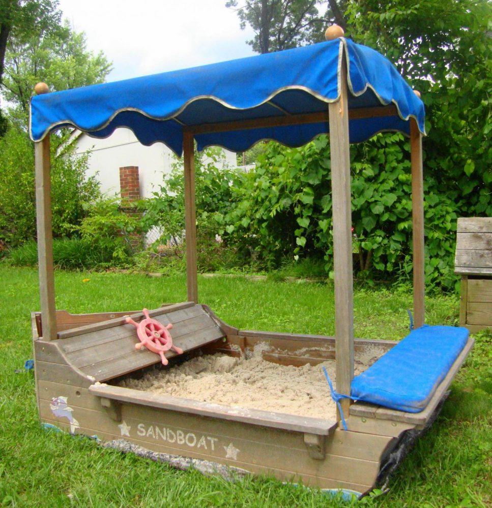 площадка с песком для детей на даче готовая конструкция