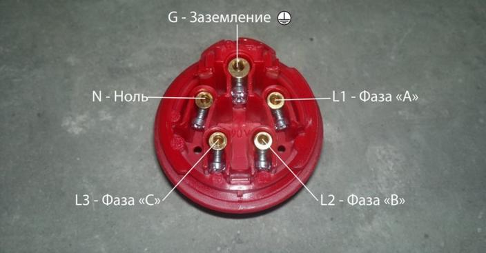 Подключение розетки 3Р+РЕ+N