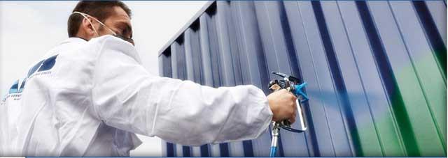 как покрасить забор из профнастила