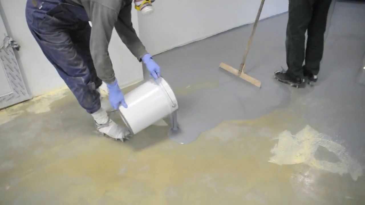 Это - заливные полы на основе бетона, но есть еще и полимерные