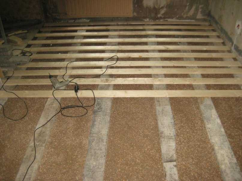 Деревянный пол с засыпкой из керамзита