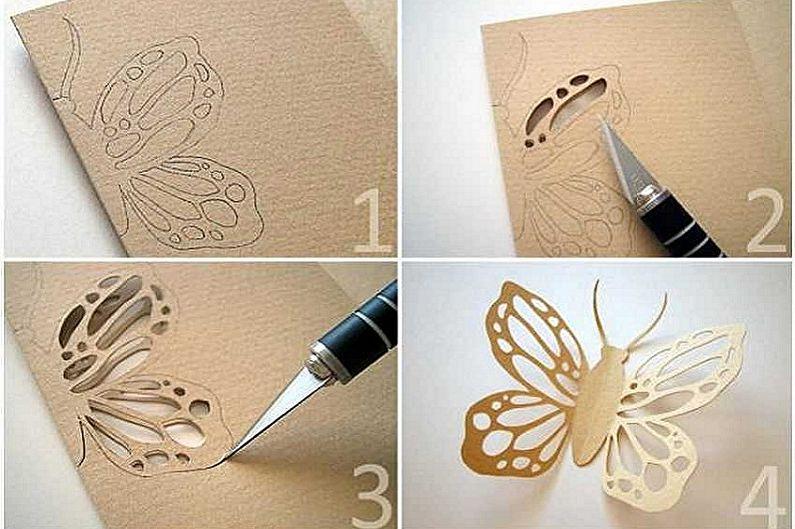 Бабочки на стену своими руками - Бабочки из бумаги и картона