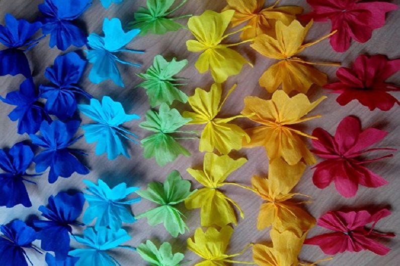 Бабочки на стену своими руками - Бабочки из гофрированной бумаги
