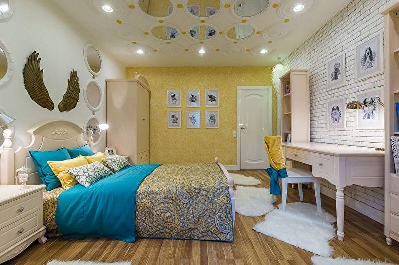 Декоративный камень в интерьере детской комнаты