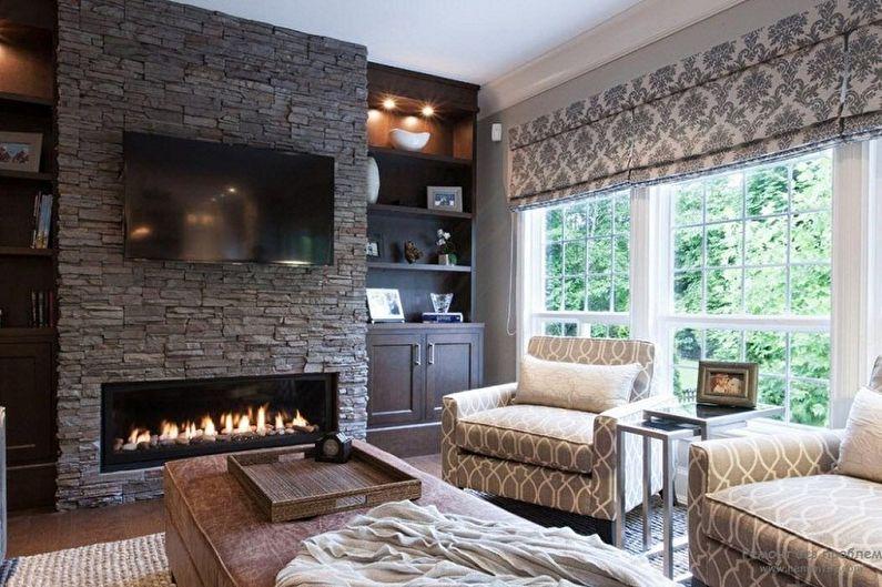 Декоративный камень в интерьере - Классический стиль