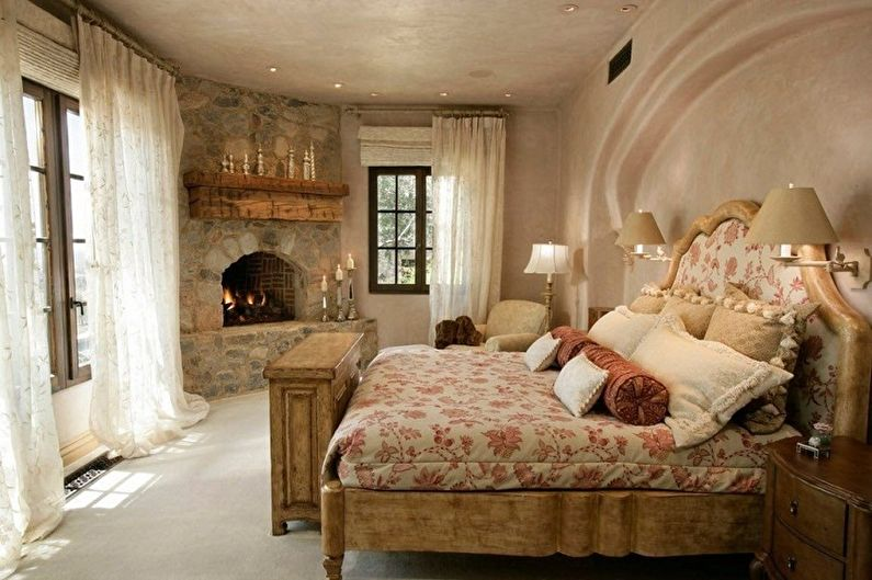 Декоративный камень в интерьере - Прованс